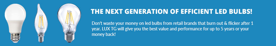Lux TG LED Light Bulbs - Fast Shipping - Westside Wholesale