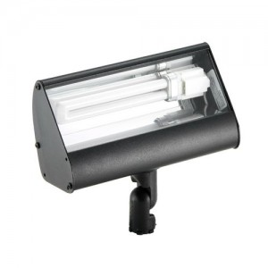 Focus Industries FFL-13-120VBLT Outdoor Light Aluminum Fluorescent Flood Light w/High-Impact Clear Lens 13W 120V - Black Texture  sc 1 st  Westside Wholesale & Focus Industries FFL-13-120VBLT Outdoor Light Aluminum Fluorescent ...