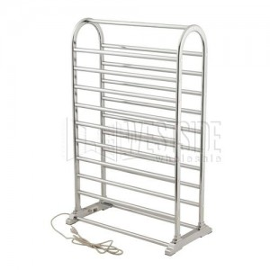 Warmrails DVC Deluxe Vauxhall Dual Sided Portable Free Standing Towel Warmer,  Plug In   Chrome