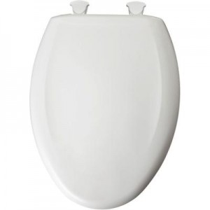 Awesome Bemis 1200Slowt 000 Toilet Seat Slow Close Elongated Closed Front Plastic W Easy 2 Clean Hinges White Creativecarmelina Interior Chair Design Creativecarmelinacom