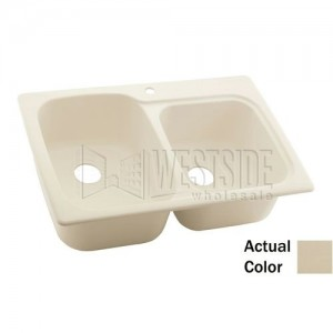 Swanstone KSLB-3322 (010) Double Bowl Kitchen Sink