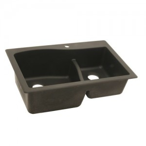 SwSwanstone QZLS-3322 Double Bowl Drop-In Kitchen Sink