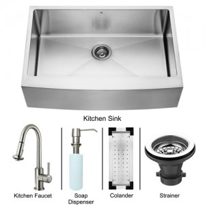 VIGO Industries VG15097 Kitchen Sink and Faucet Combos