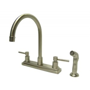 Kingston Brass KS8798DL KS8798DL CONCORD Two Handle Kitchen Faucet with  Matching Finish Plastic Sprayer