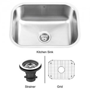 VIGO Industries VG2318K1 Single Bowl Kitchen Sink