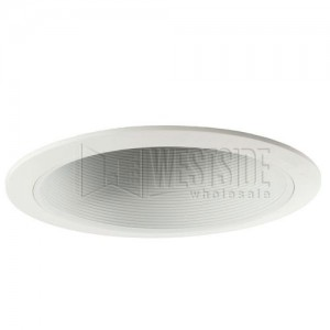 White Recessed Ceiling Light Baffle Trim 6-Pack Halo 410W-6PK 6 in