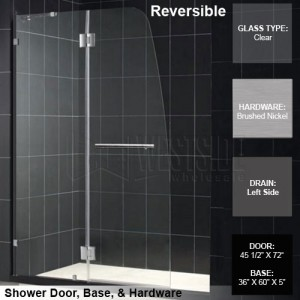 DreamLine DL-6336L-04CL Shower Door and Base Sets