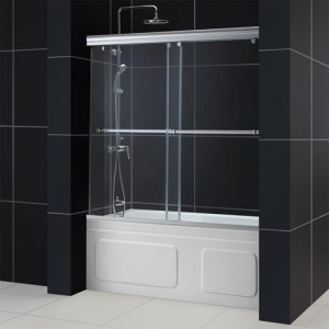 DreamLine DL-6938C-04CL Shower Door and Backwall Sets