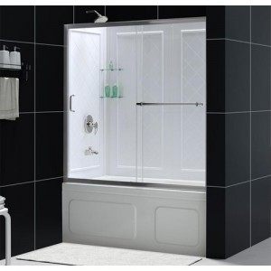 DreamLine DL-6991-04CL Shower Door and Backwall Sets