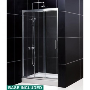 DreamLine DL-6401L-01CL Shower Door and Base Sets