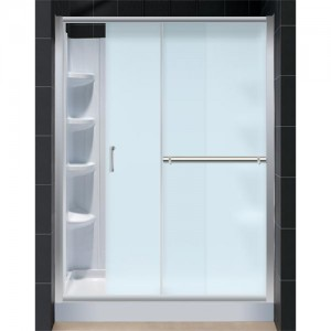 DreamLine DL-6096R-04FR Shower Door, Base, and Back Wall Sets