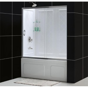 DreamLine DL-6102-04CL Shower Door and Backwall Sets