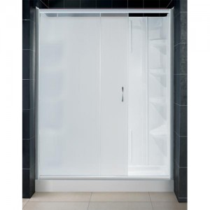 DreamLine DL-6104R-04FR Shower Door, Base, and Back Wall Sets