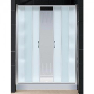 DreamLine DL-6108C-01FR Shower Door, Base, and Back Wall Sets