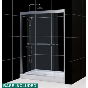 DreamLine DL-6127L-04CL Shower Door and Base Sets