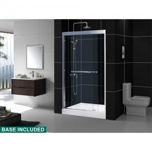 DreamLine DL-6128C-01CL Shower Door and Base Sets