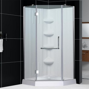DreamLine DL-6151-01CL Shower Door, Base, and Back Wall Sets