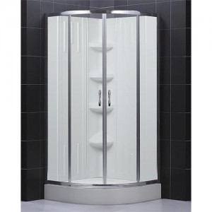 DreamLine DL-6163-01CL Shower Door, Base, and Back Wall Sets