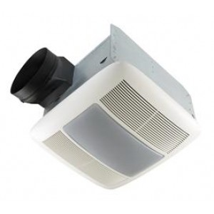Nutone QTXEN080FLT Bathroom Fan, 80 CFM QuietTest Series w/Light, Energy  Star Rated - for 6\
