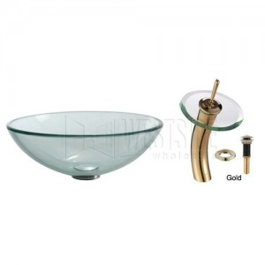 Kraus C-GV-101-12mm-10G Bathroom Sink and Faucet Combos