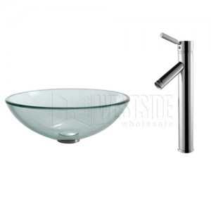 Kraus C-GV-101-12mm-1002CH Bathroom Sink and Faucet Combos