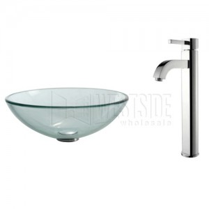 Kraus C-GV-101-12mm-1007CH Bathroom Sink and Faucet Combos