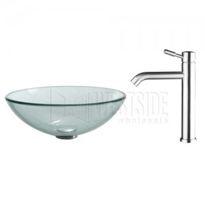 Kraus C-GV-101-12mm-2180 Bathroom Sink and Faucet Combos
