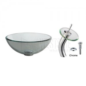 Kraus C-GV-101-14-12mm-10CH Bathroom Sink and Faucet Combos