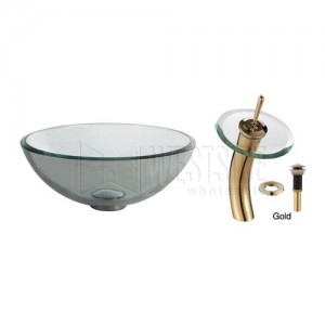 Kraus C-GV-101-14-12mm-10G Bathroom Sink and Faucet Combos