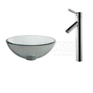 Kraus C-GV-101-14-12mm-1002CH Bathroom Sink and Faucet Combos