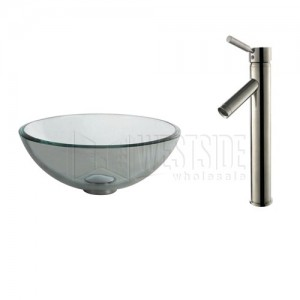Kraus C-GV-101-14-12mm-1002SN Bathroom Sink and Faucet Combos