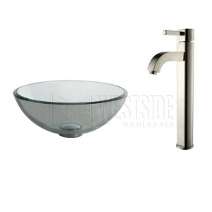 Kraus C-GV-101-14-12mm-1007SN Bathroom Sink and Faucet Combos