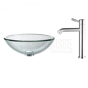 Kraus C-GV-101-19mm-2180 Bathroom Sink and Faucet Combos