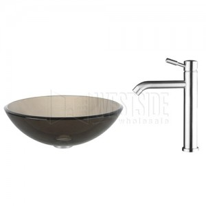 Kraus C-GV-103-12mm-2180 Bathroom Sink and Faucet Combos