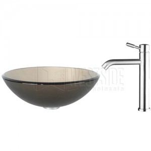 Kraus C-GV-103FR-12mm-2180 Bathroom Sink and Faucet Combos