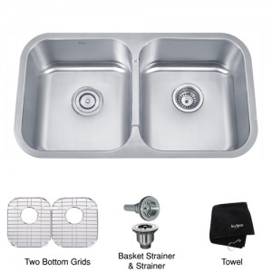 Kraus KBU29 Double Bowl Kitchen Sink