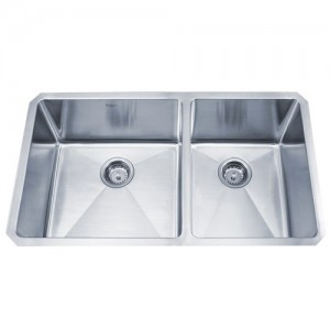Kraus KHU103-33 Double Bowl Kitchen Sink