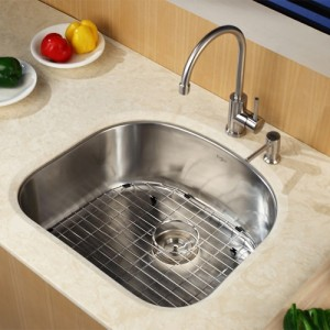 Kraus KBU10-KPF2160-SD20 Kitchen Sink Sets