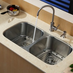 Kraus KBU22-KPF2160-SD20 Kitchen Sink Sets