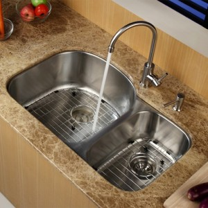 Kraus KBU23-KPF2160-SD20 Kitchen Sink Sets