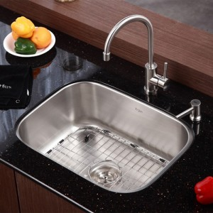 Kraus KBU12-KPF2160-SD20 Kitchen Sink Sets