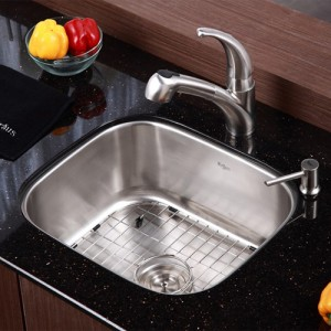 Kraus KBU11-KPF2110-SD20 Kitchen Sink Sets