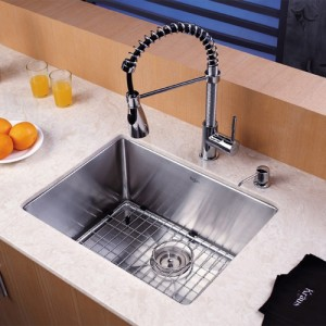 Kraus KHU101-23-KPF1612-KSD30CH Kitchen Sink Sets
