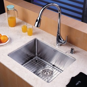 Kraus KHU101-23-KPF1621-KSD30CH Kitchen Sink Sets