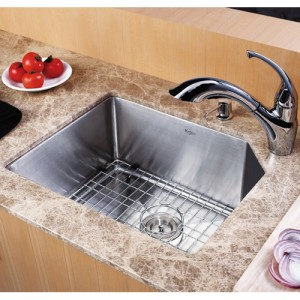 Kraus KHU121-23-KPF2210-KSD30CH Kitchen Sink Sets