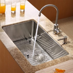 Kraus KHU100-30-KPF2160-SD20 Kitchen Sink Sets