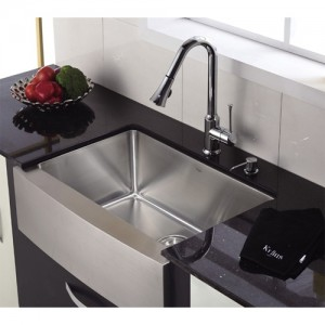 Kraus KHF200-30-KPF1650-KSD30CH Kitchen Sink Sets