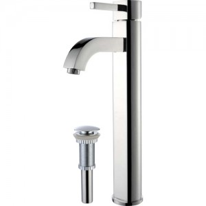 Kraus FVS-1007-PU-10CH Bathroom Sink and Faucet Combos
