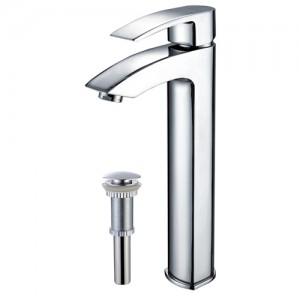 Kraus FVS-1810-PU-10CH Bathroom Sink and Faucet Combos