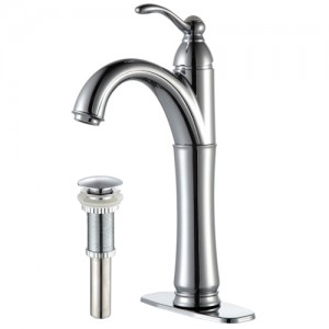 Kraus FVS-1005-PU-10CH Bathroom Sink and Faucet Combos